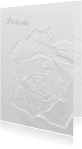 Rouwkaarten - Rouw breekbaar glazen roos