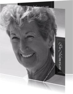 Rouwkaarten - rouwkaart foto moeder