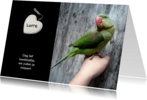 Condoleancekaarten - Rouwkaart hart - afscheid huisdier