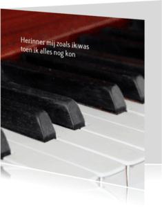 Rouwkaarten - rouwkaart hobby piano
