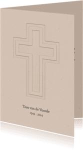 Rouwkaart recht kruis