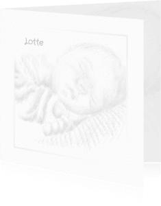 Rouwkaarten - Rouwkaart schets slapende baby B RB