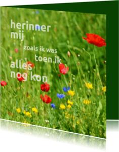 Rouwkaarten - Rouwkaart Veldbloemen