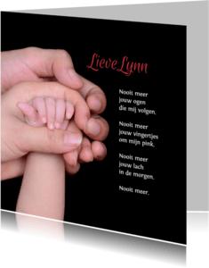 Rouwkaarten - Rouwkaart voor baby of kind
