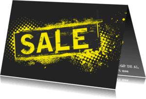 Kaarten mailing - Sale Yellow