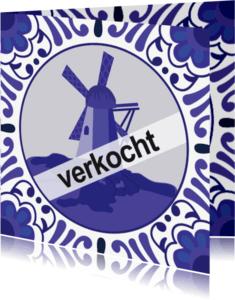 Samenwonen kaarten - Samenwonen Delfts Blauw