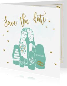 Trouwkaarten - Save the Date Baboesjka