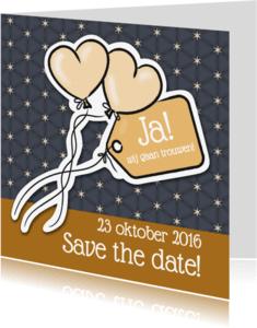 Trouwkaarten - Save the date - ballonnen