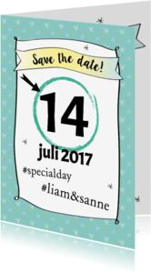 Trouwkaarten - Save the date grafisch