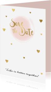 Trouwkaarten - Save the date kaart 3 - WW