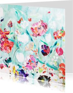 Bloemenkaarten - Schilderij Happy Garden