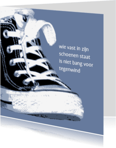 Coachingskaarten - schoenen en tegenwind