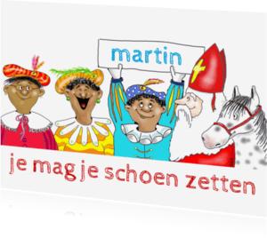 Sinterklaaskaarten - Sint en pieten op een rij
