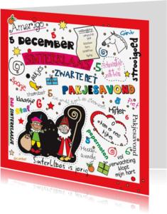 Sinterklaaskaarten - Sint en Pietkaart