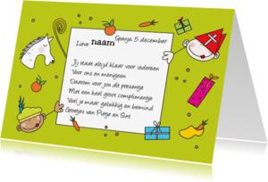 Sinterklaaskaarten - Sinterklaas 13