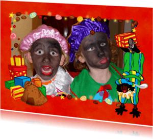 Sinterklaaskaarten - Sinterklaas feest fotokader