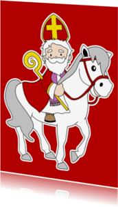 Sinterklaaskaarten - Sinterklaas kaart 2a