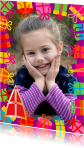 Sinterklaaskaarten - Sinterklaaskaart met foto