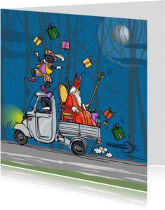 Sinterklaaskaarten - Sinterklaaskaart met piet