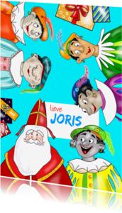 Sinterklaaskaarten - Sinterklaaskaart - Pieten en kadootjes kaart