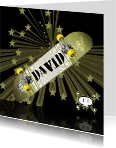Verjaardagskaarten - Skater kaart - Vervang de naam