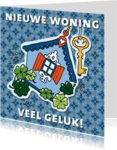 Verhuiskaarten - Sleutel naar geluk! - patroon