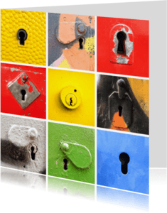 Felicitatiekaarten - Sleutelgaten - verhuisd