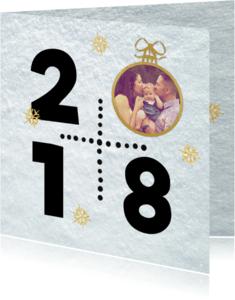 Kerstkaarten - Sneeuw 2018 kerstbal