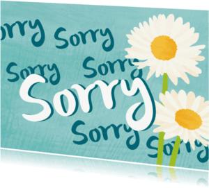 Sorry kaarten - Sorry met madeliefjes