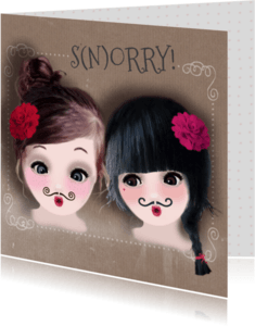 Sorry kaarten - Sorry Snorry Loulou & Ting