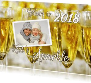 Uitnodigingen - Sparkling New Year Cheers 2018 - OT