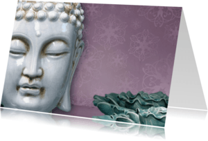 Religie kaarten - Spirituele kaart Boeddha wit