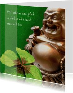 Religie kaarten - Spirituele kaart lachende geluks boeddha
