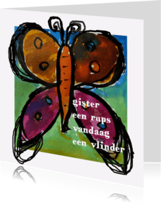Spreukenkaarten - Spreukenkaart rups vlinder - AW