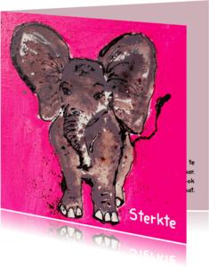 Sterkte kaarten - Sterkte kaart met olifant