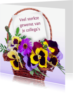 Sterkte kaarten - Sterktekaart met bloemenmand
