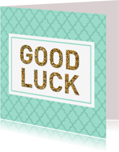 Succes kaarten - Succes Good luck mint