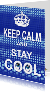 Succes kaarten - Succes kaart Stay Cool PA