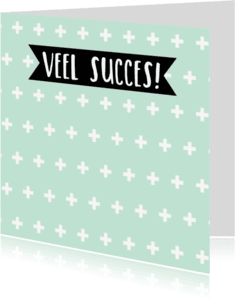 Succes kaarten - Succes kaartje