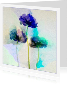 Bloemenkaarten - symphony in blue
