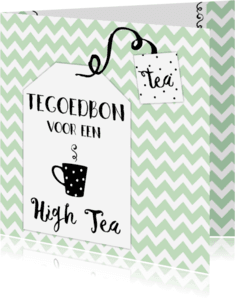 Uitnodigingen - Tegoedbon High Tea - WW