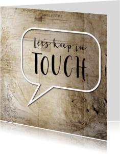 Vriendschap kaarten - Tekstballon - Lets keep in touch - SG