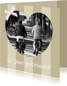 Jubileumkaarten - Traditioneel jubileum beige 1LS3