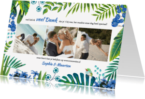 Trouwkaarten - Tropical Bedankt Bruiloft