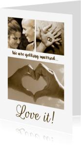 Trouwkaarten - Trouwkaart Collage romantisch