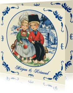 Trouwkaarten - Trouwkaart oud Hollands