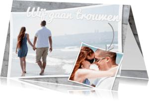 Trouwkaarten - Trouwkaart Wij gaan trouwen - BK