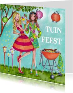 Uitnodigingen - Tuinfeest BBQ Party Tuin Illustratie