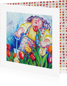 Bloemenkaarten - tulp kleurrijk - AW