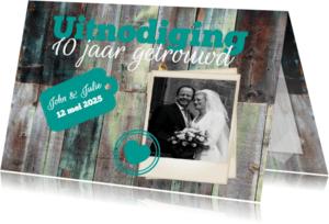 Jubileumkaarten - Uitnodiging 10 jaar-isf